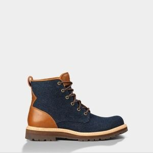 Ugg Huntley Denim And Leather Boots/ Men